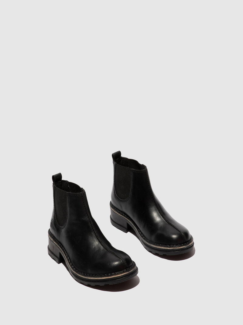 Fly London Chelsea Ankle Boots TYGA047FLY RUG BLACK