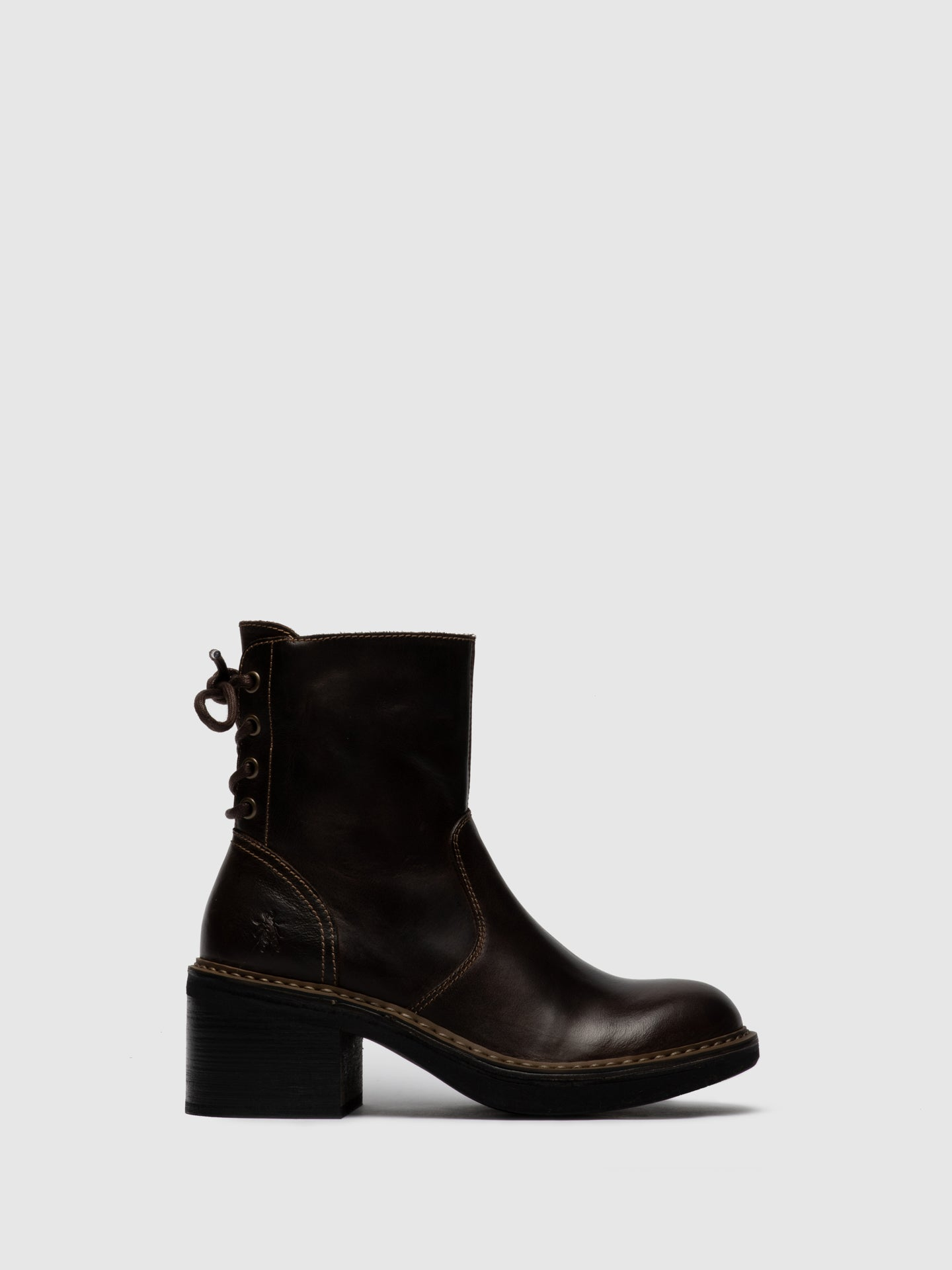 Fly London Lace-up Ankle Boots ERIC049FLY RUG DK. BROWN