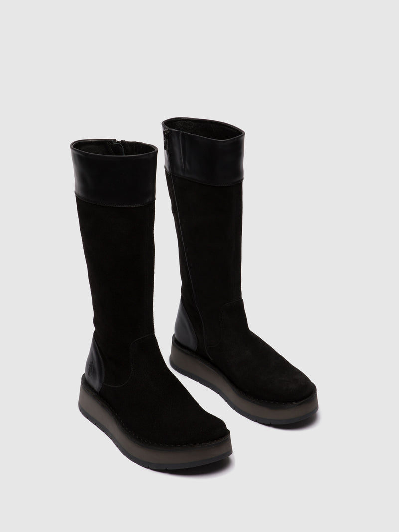 Zip Up Boots RIPA056FLY OILSUEDE/RUG BLACK