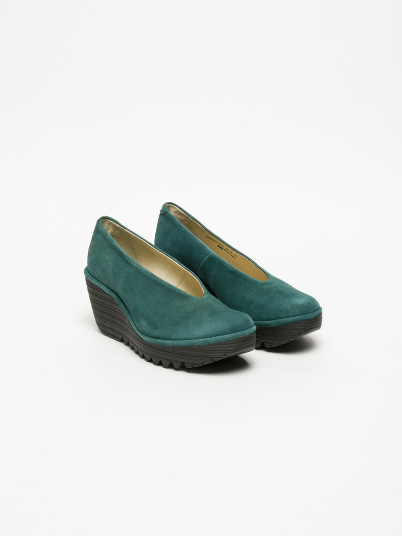 Fly London Green Wedge Shoes