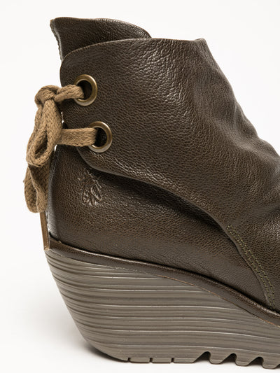 Fly London Olive Wedge Ankle Boots