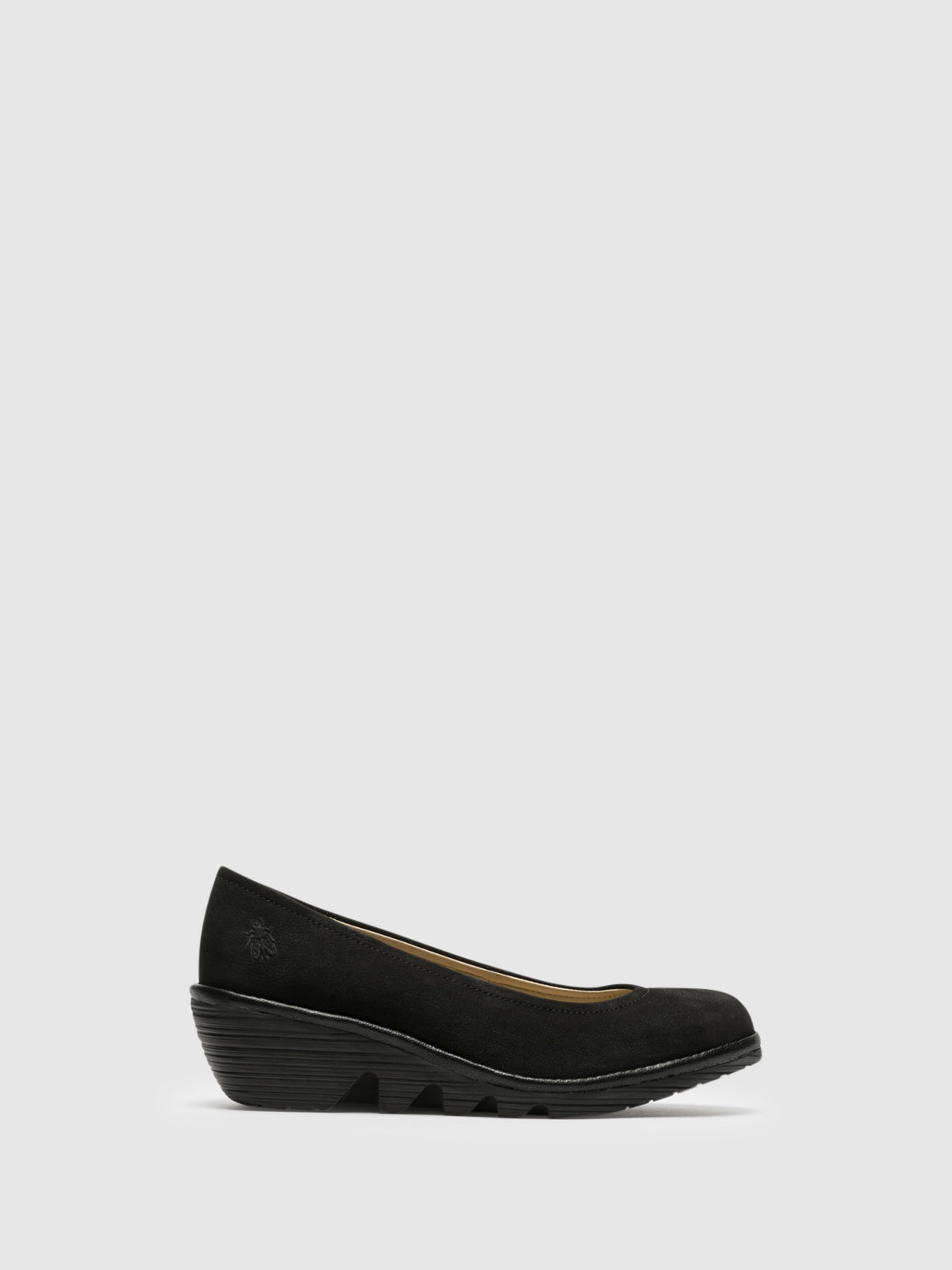 Fly London Black Wedge Ballerinas