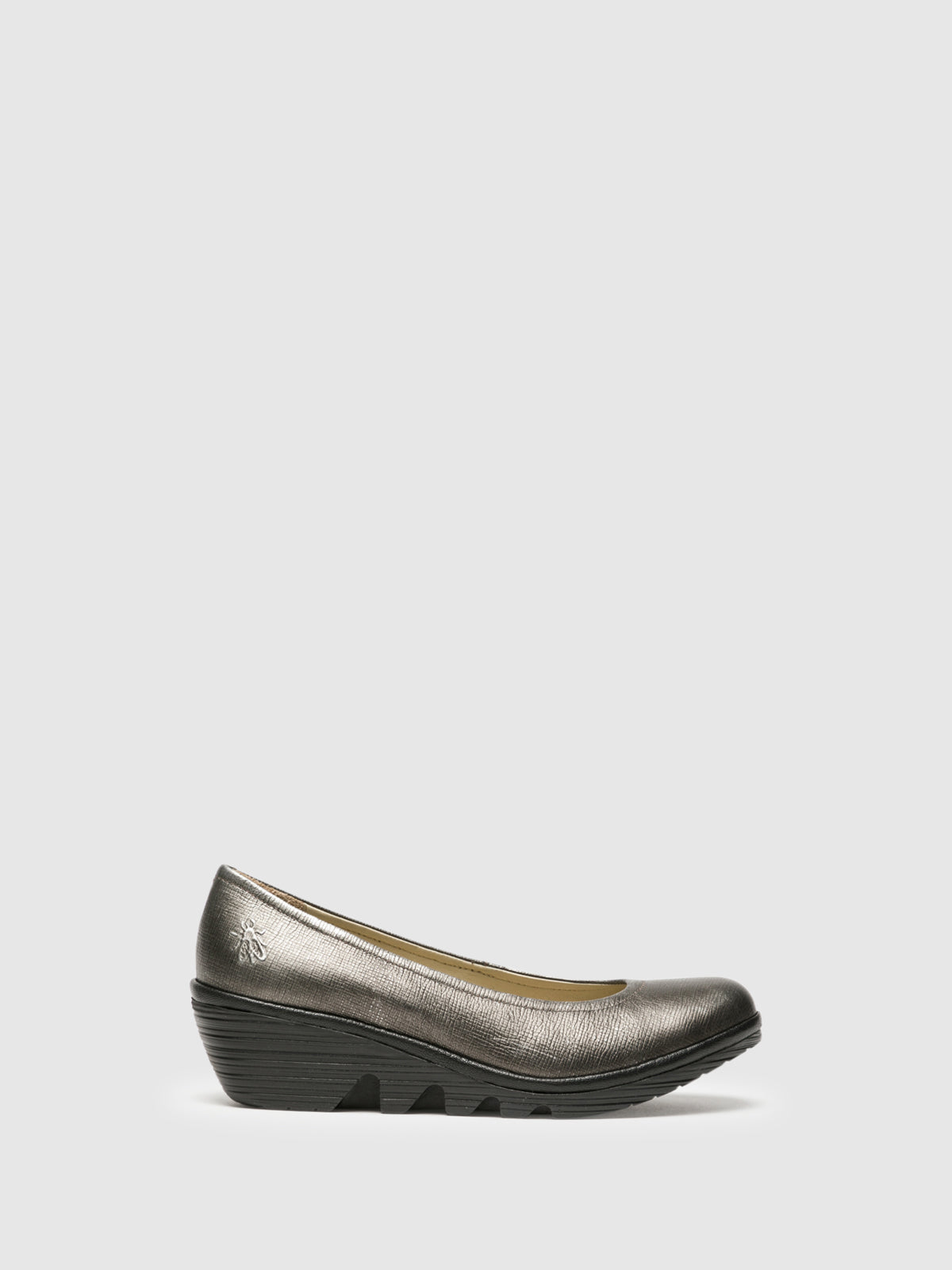 Fly London LightGray Wedge Ballerinas