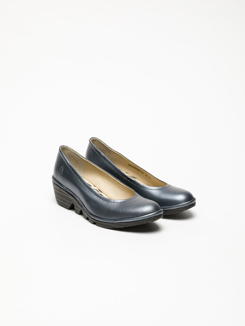 Gray Wedge Ballerinas