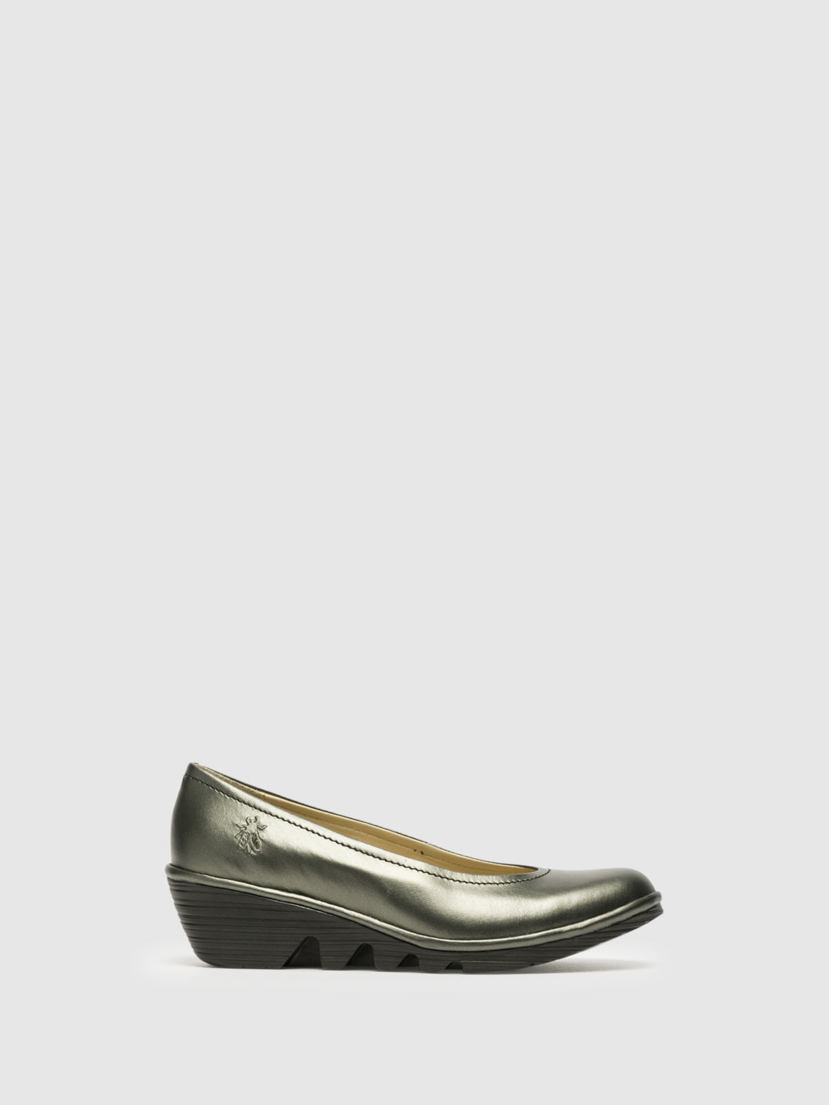 Fly London Silver Wedge Ballerinas