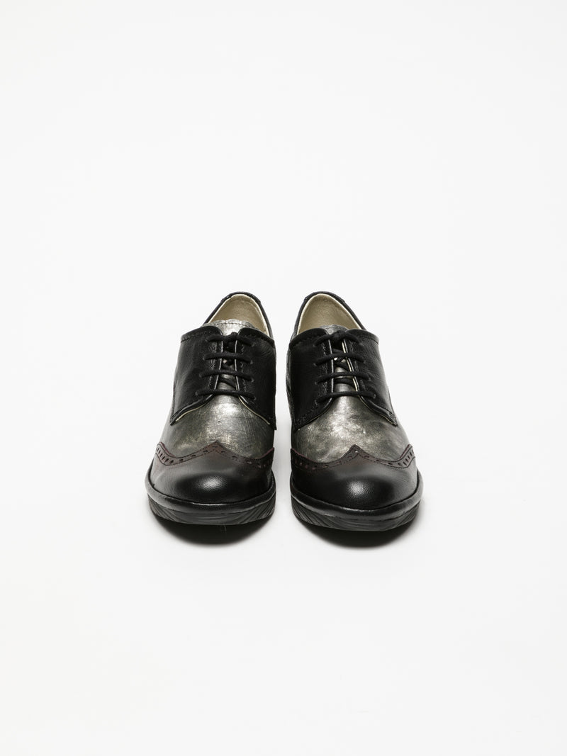 Carbon Black Derby Shoes