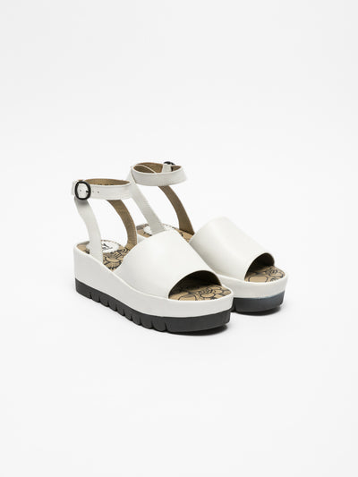 Fly London White Platform Sandals