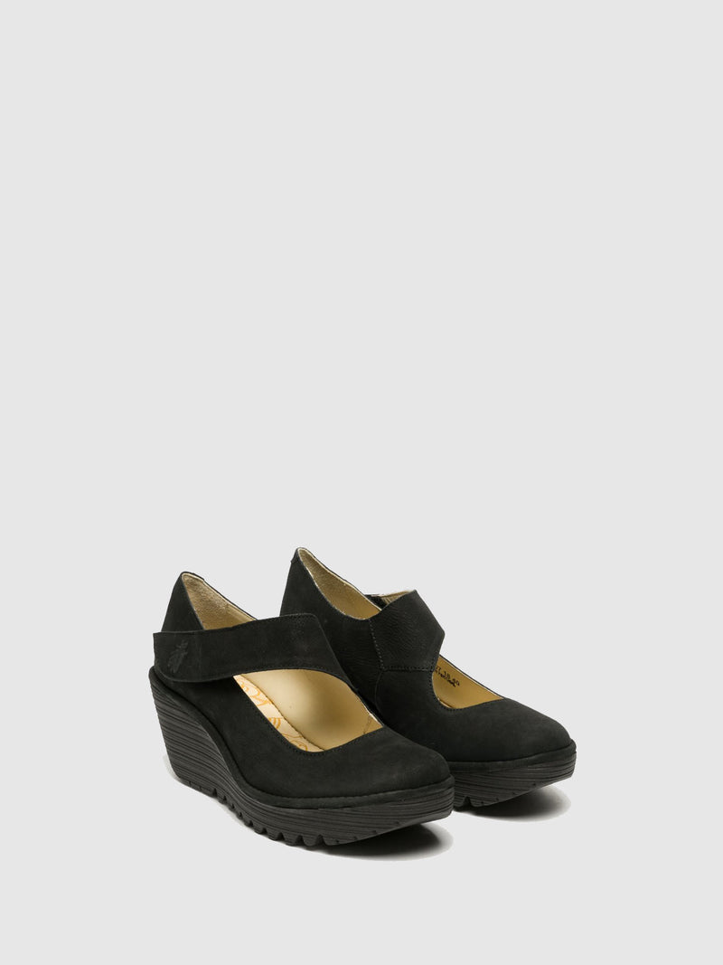 DarkGray Wedge Shoes