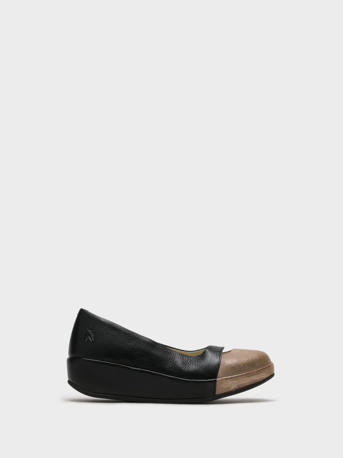 Fly London SandyBrown Wedge Ballerinas