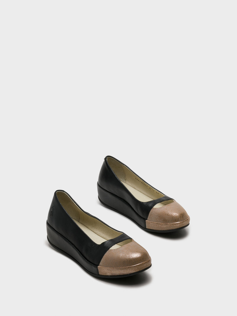SandyBrown Wedge Ballerinas