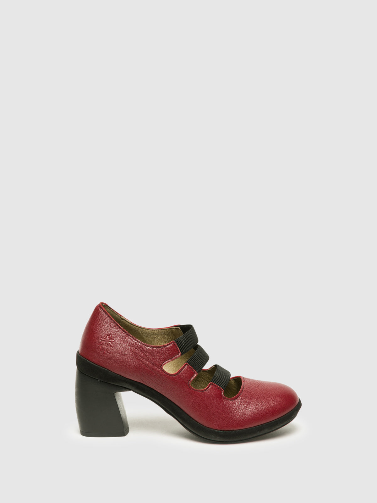 Fly London DarkRed Block Heel Shoes