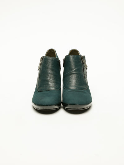 Fly London Green Zip Up Ankle Boots
