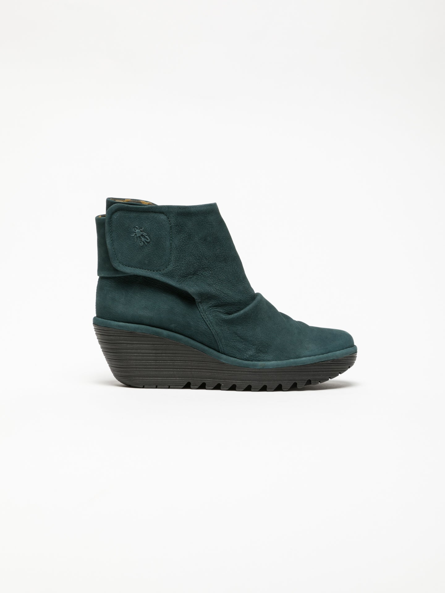 Fly London Green Velcro Ankle Boots