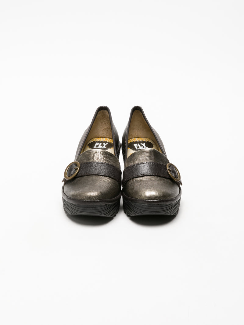 Fly London SandyBrown Monk Shoes