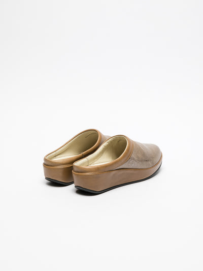 Fly London Peru Round Toe Mules