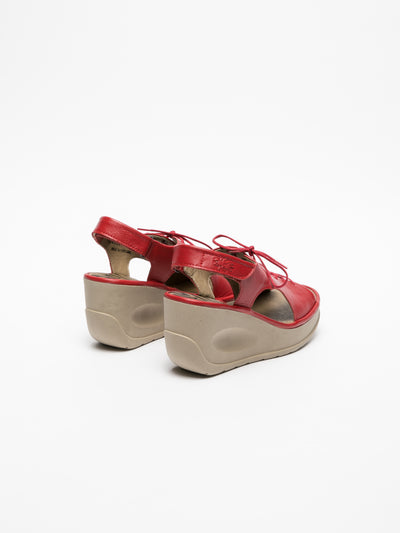 Fly London Red Lace-up Sandals