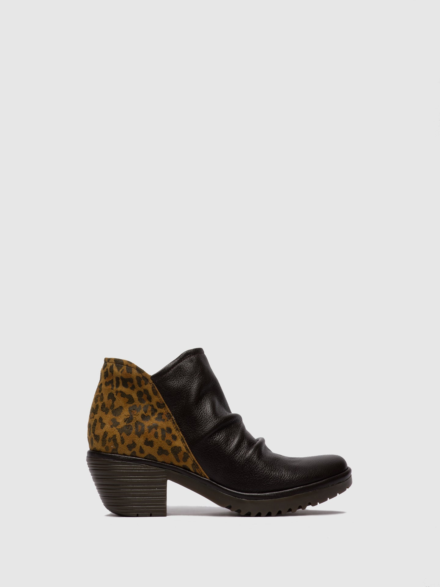 Fly London Zip Up Ankle Boots WEZO890FLY MOUSSE/CHEETAH CHOCOLATE/TAN