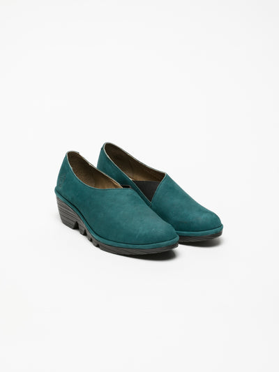 Fly London Blue Wedge Shoes