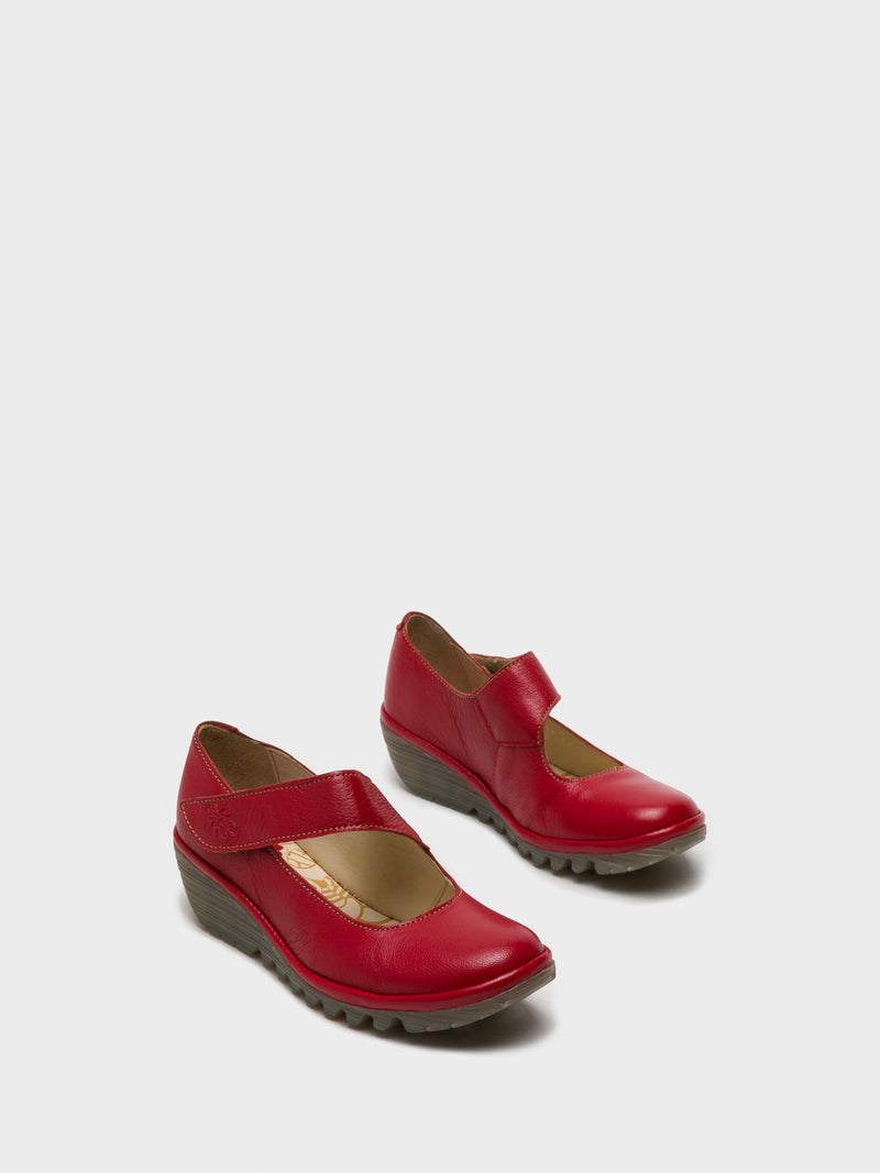 Fly London Red Round Toe Shoes