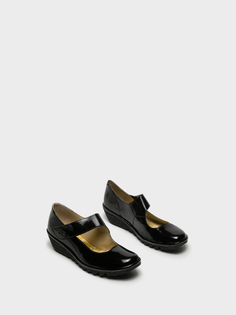Coal Black Mary Jane Shoes