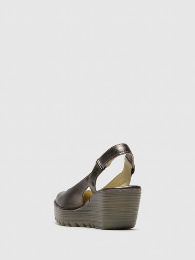 Fly London DarkGray Sling-Back Sandals