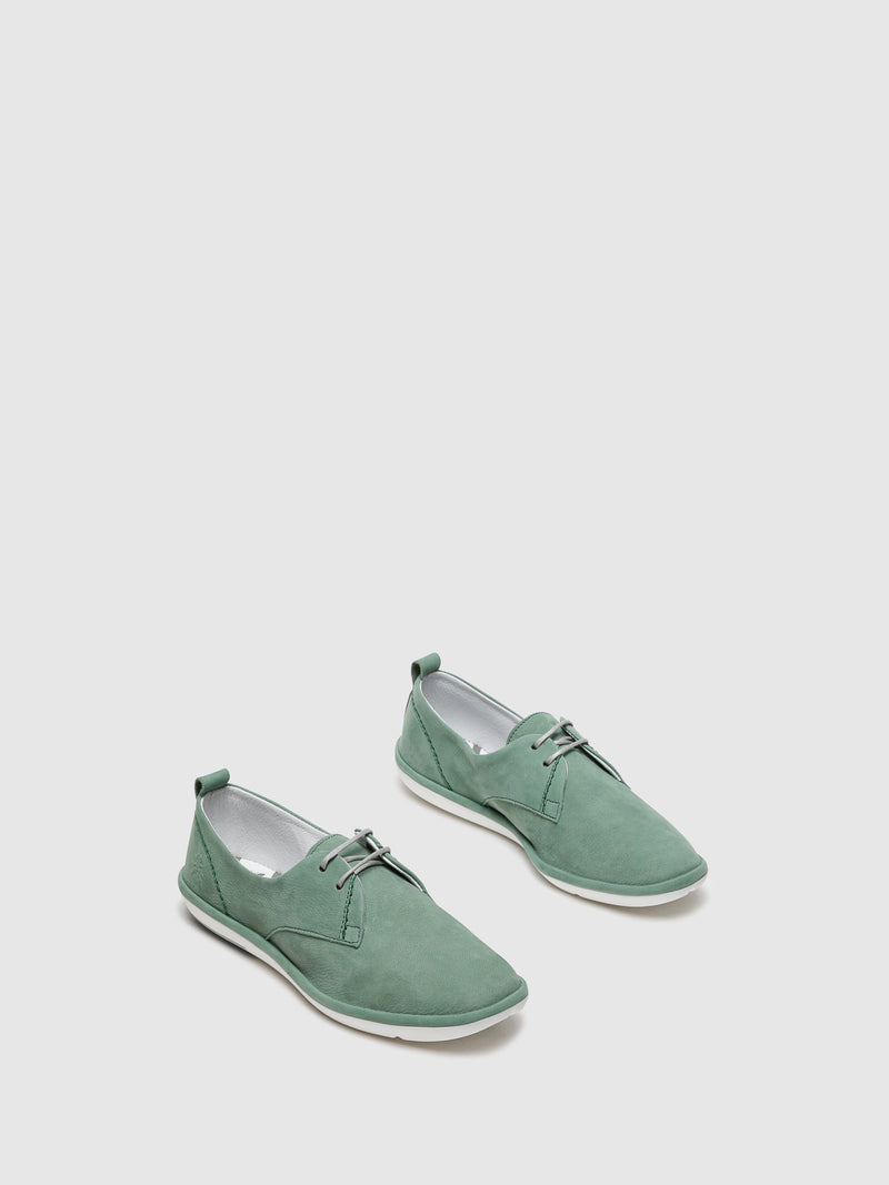 Green Lace-up Trainers