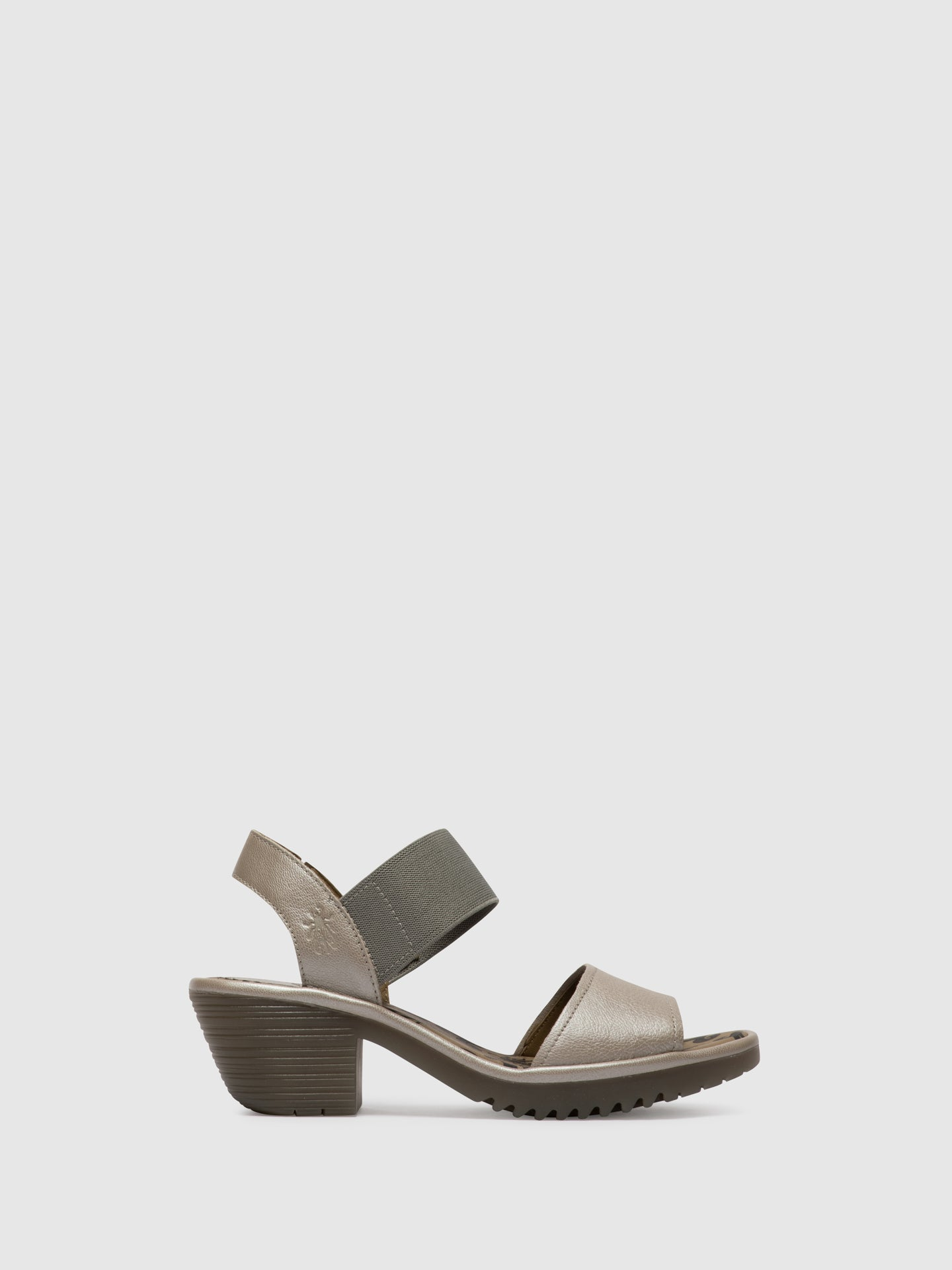 Fly London Silver Open Toe Sandals