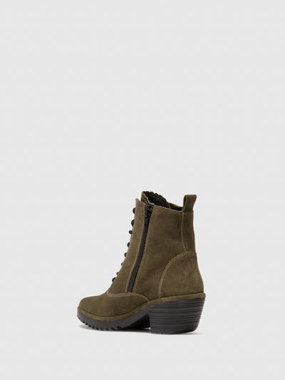Fly London Olive Lace-up Ankle Boots