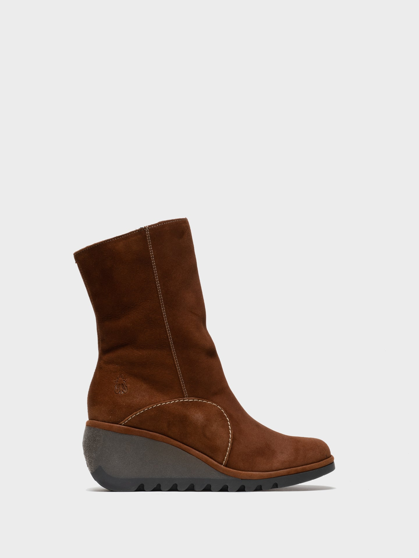 Fly London Chocolate Zip Up Ankle Boots