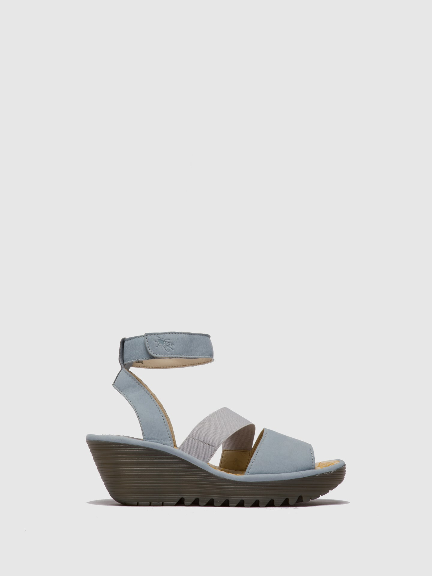Fly London SkyBlue Ankle Strap Sandals