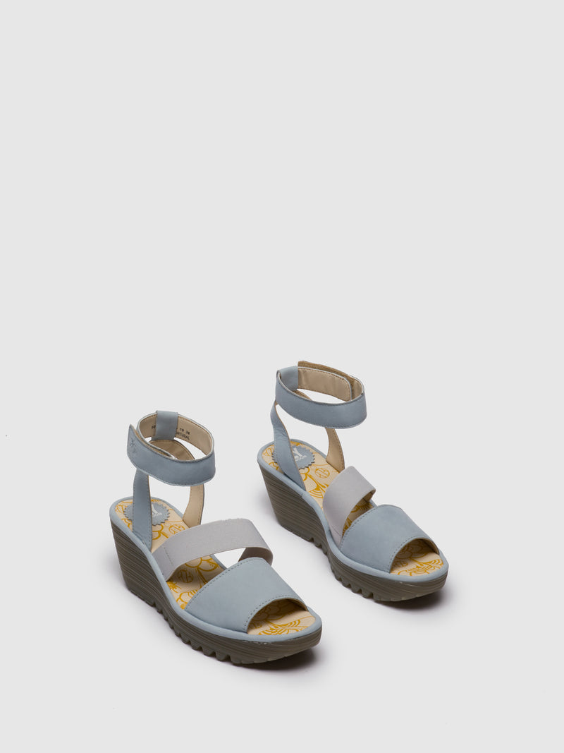 SkyBlue Ankle Strap Sandals