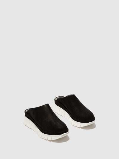 Fly London Closed Mules BULT130FLY BLACK