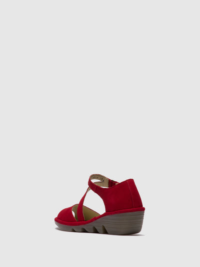 Fly London Firebrick Crossover Sandals