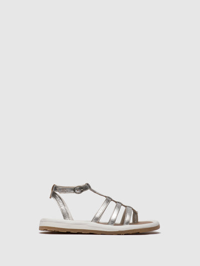 Fly London Silver Gladiator Sandals