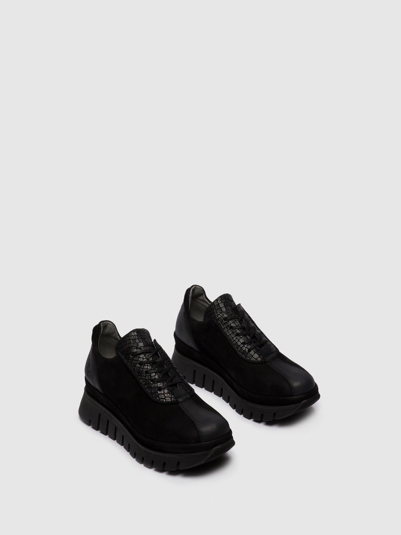 Fly London Lace-up Trainers BESI203FLY VERONA/CROCO/SILKY BLACK