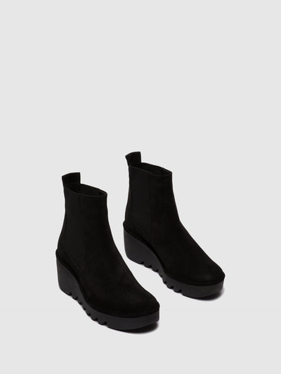 Fly London Chelsea Ankle Boots BAGU233FLY OILSUEDE BLACK
