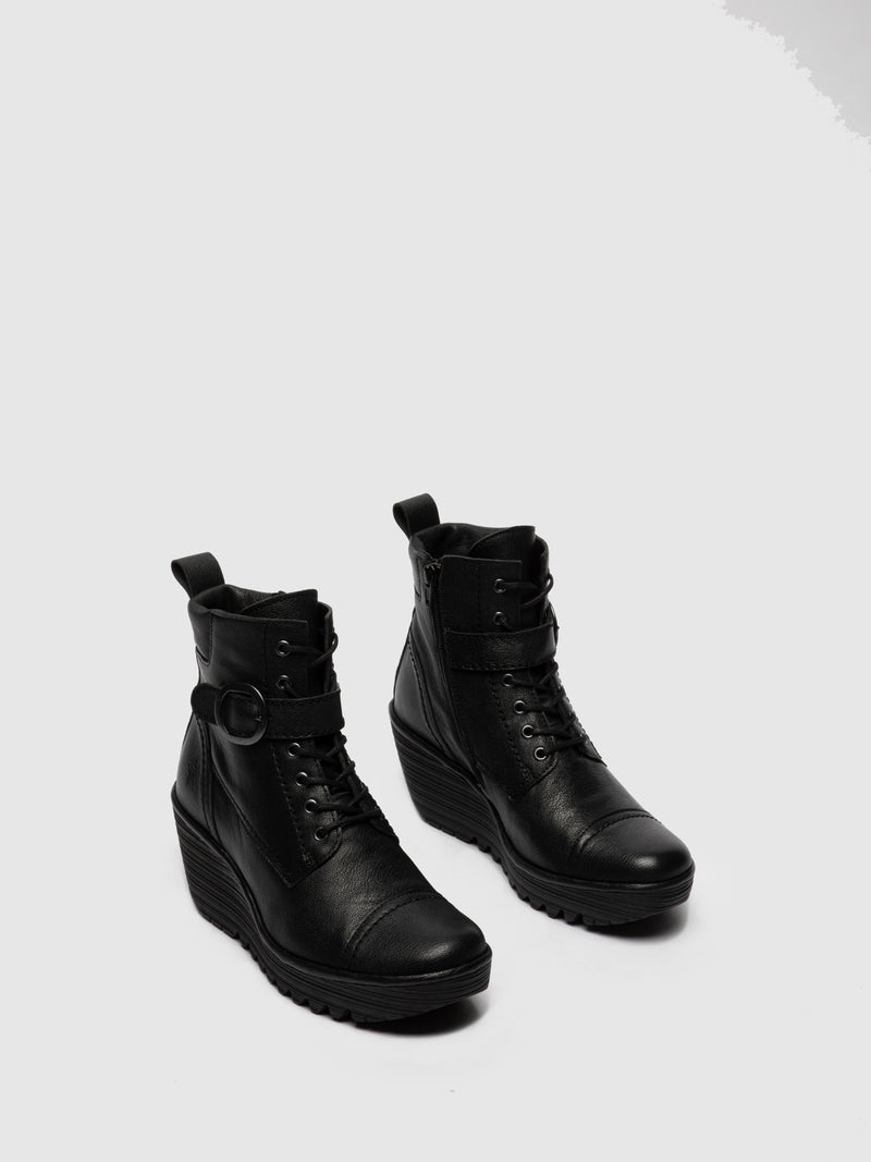 Lace-up Ankle Boots YEZI247FLY MOUSSE BLACK
