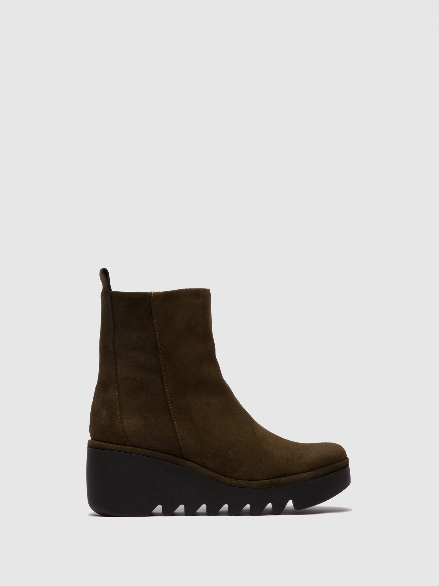 Fly London Zip Up Ankle Boots BALE250FLY OILSUEDE SLUDGE