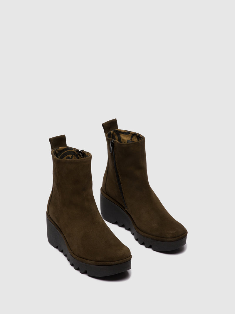 Zip Up Ankle Boots BALE250FLY OILSUEDE SLUDGE
