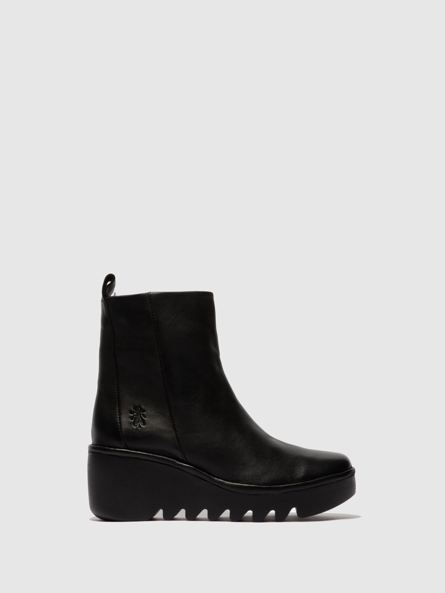 Fly London Zip Up Ankle Boots BALE250FLY VERONA BLACK