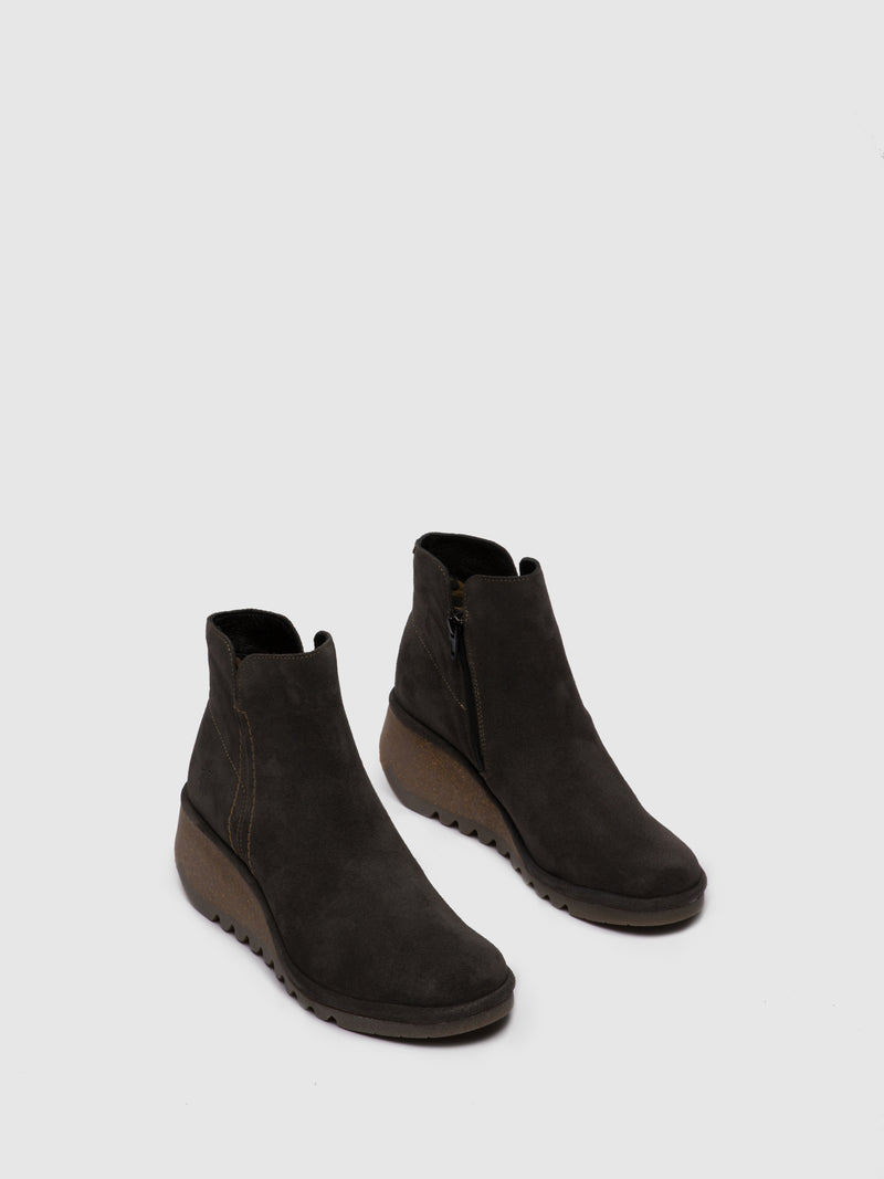 Zip Up Ankle Boots NILO256FLY OILSUEDE DIESEL