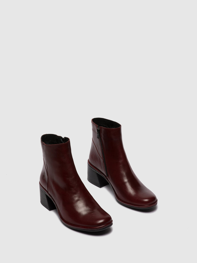 Zip Up Ankle Boots LAPA522FLY COLUMBIA RED