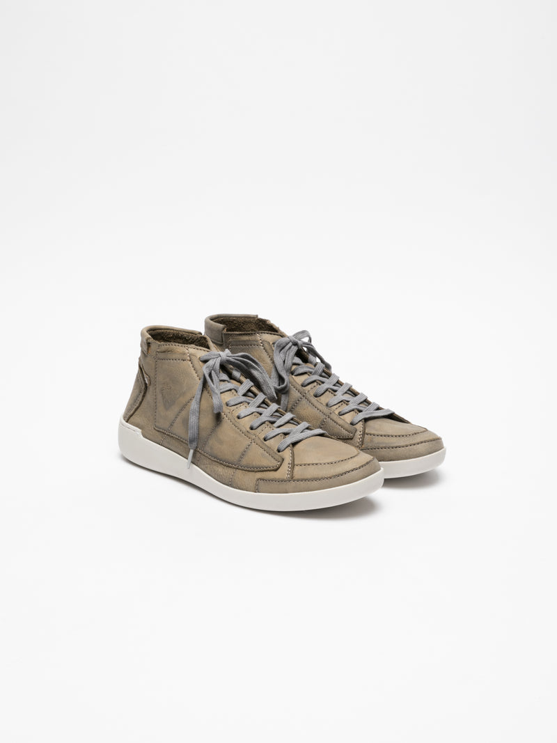Tan Hi-Top Trainers