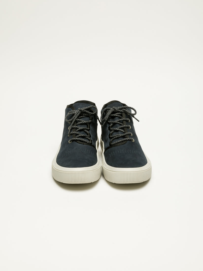 Navy Hi-Top Trainers