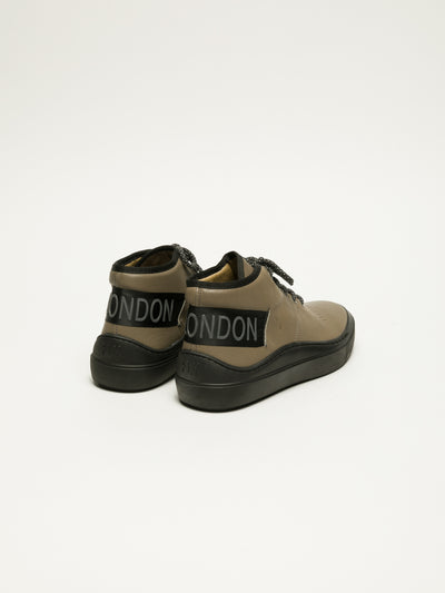 Fly London Gray Hi-Top Trainers