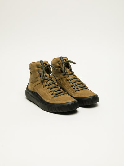 Fly London Tan Hi-Top Trainers
