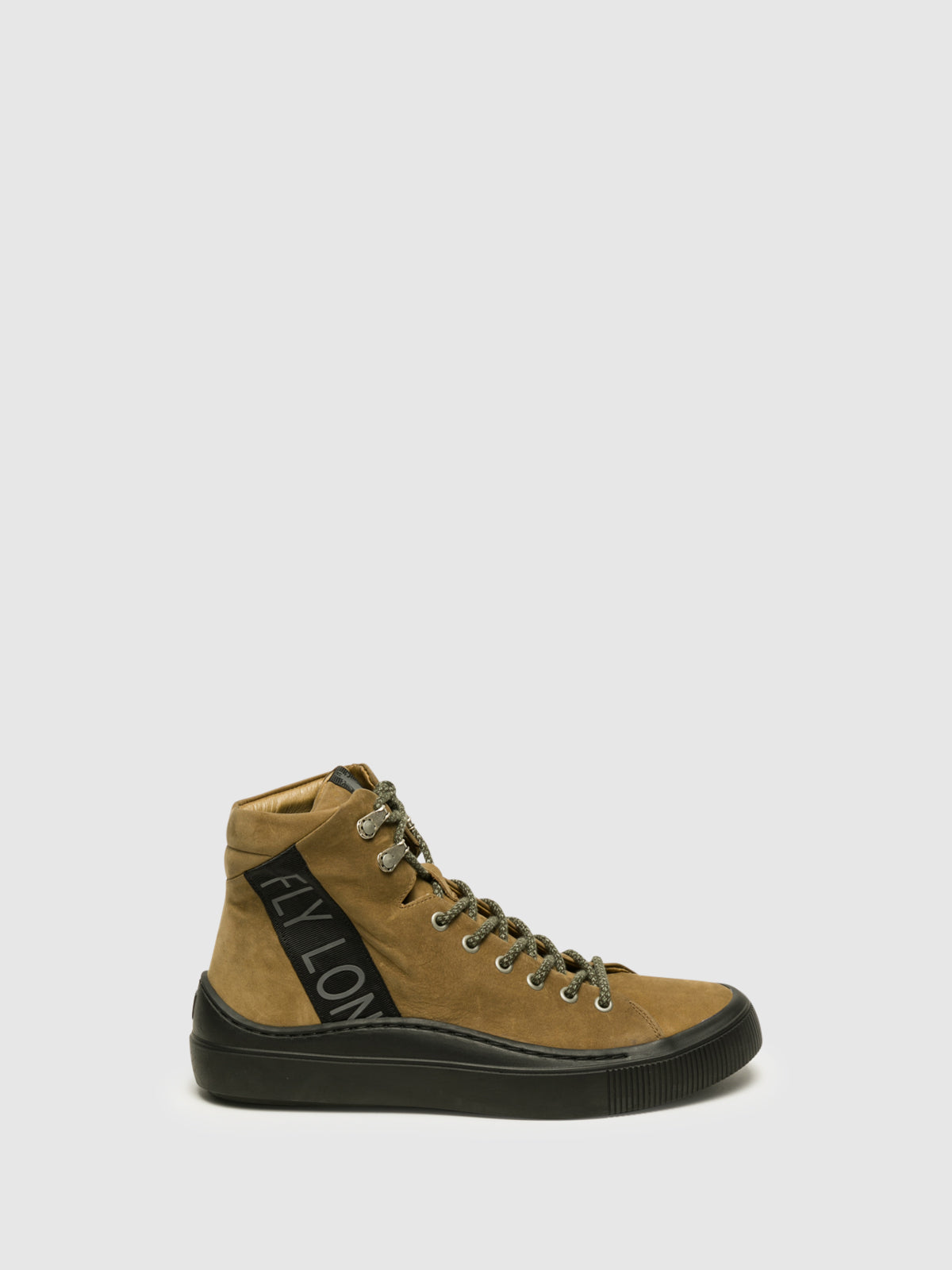 Fly London Beige Hi-Top Trainers