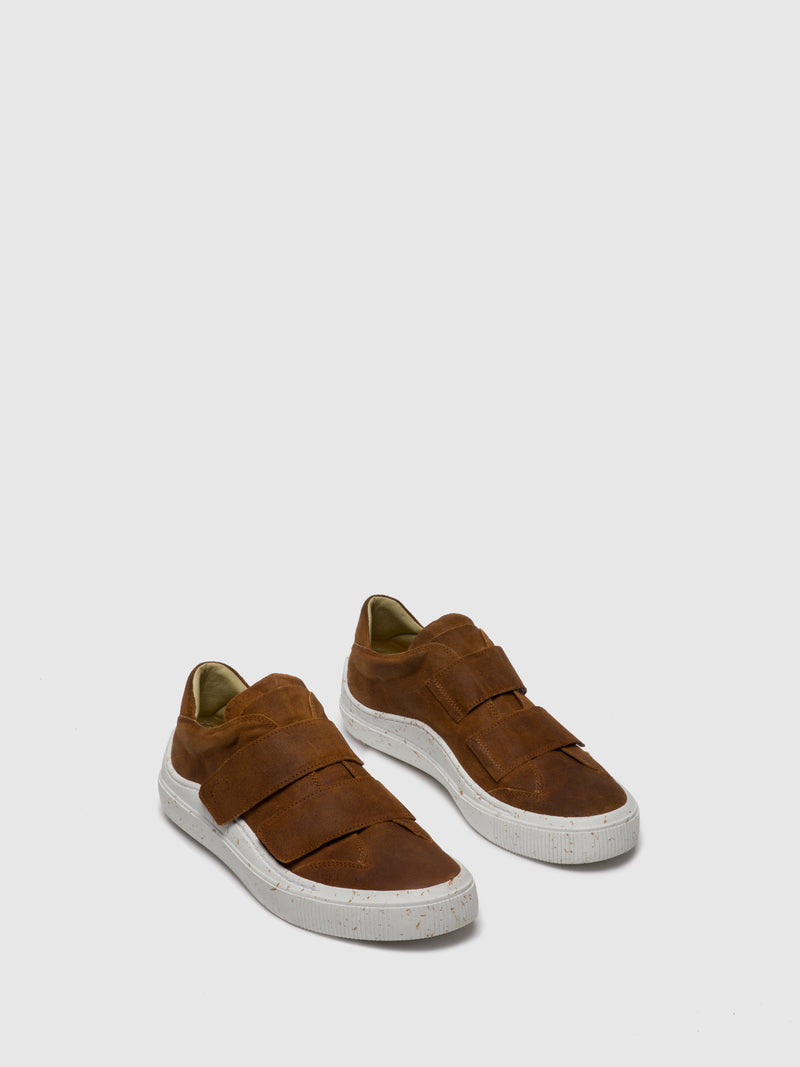 Fly London Velcro Trainers SEVU416FLY SUEDEVEGETALBEAT SADLE