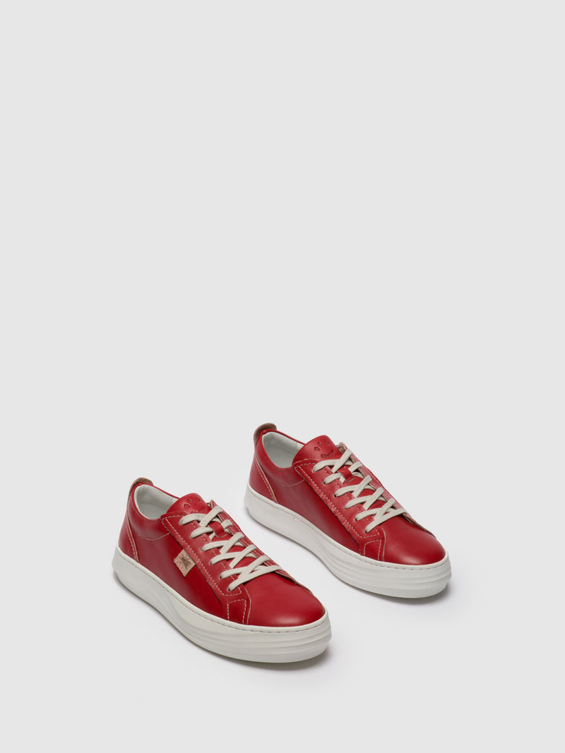 Red Lace-up Trainers