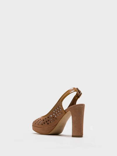 Foreva Beige Buckle Sandals